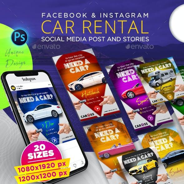 Car Rental Post & Stories