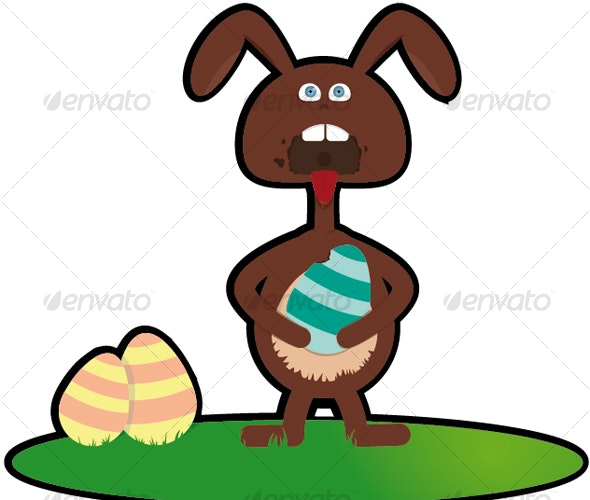 Fun easter bunny - Animals Characters