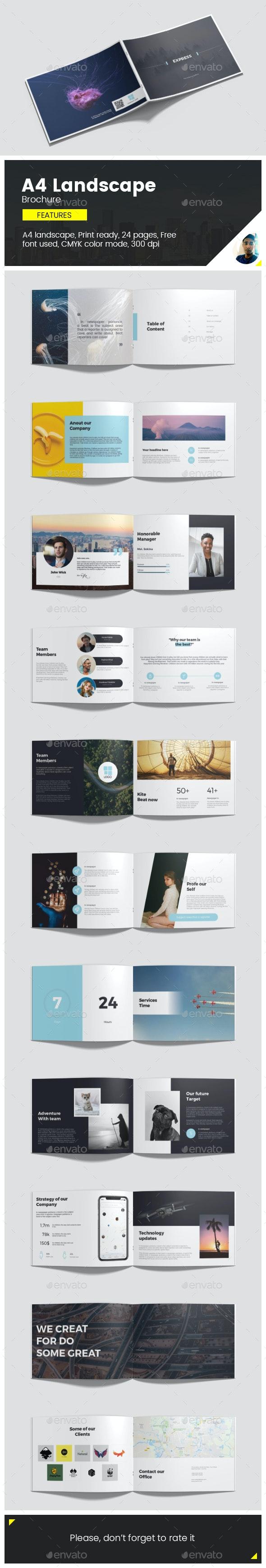 Brochure (a4 Landscape) - Brochures Print Templates