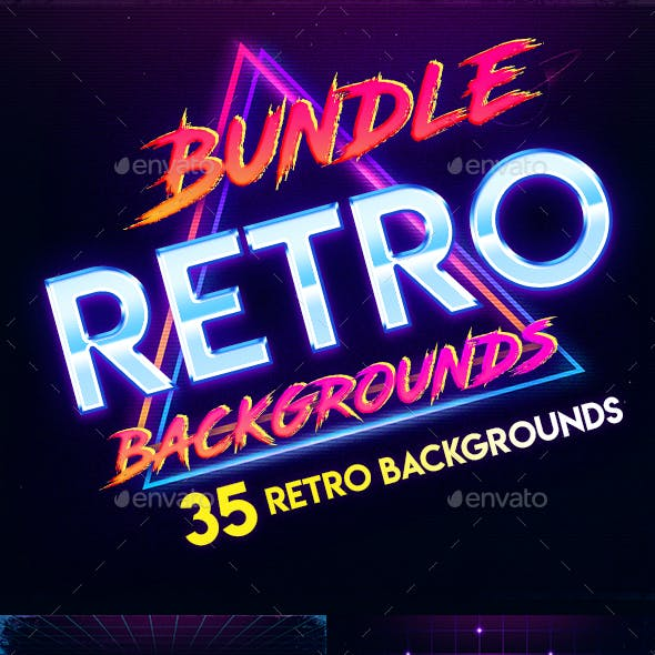 Bundle - 80s Retro Backgrounds