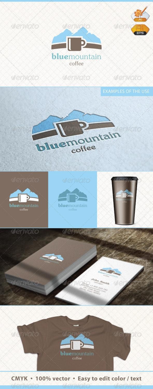 Blue Mountain Coffee Logo Template