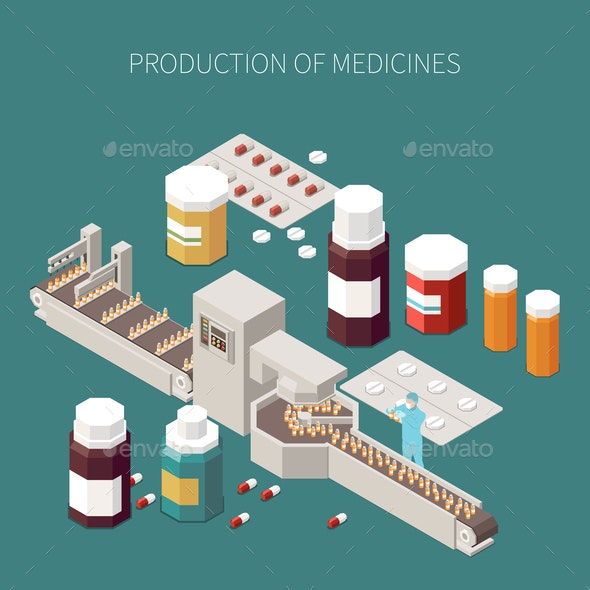 Pharmaceutical Production Concept - Health/Medicine Conceptual