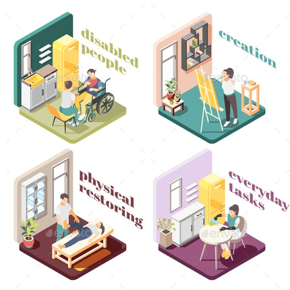 Disabled People 2x2 Design Concept