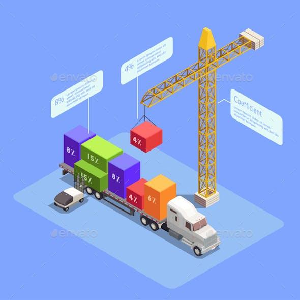 Transportation Isometric Composition