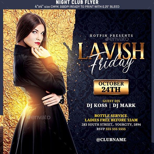 Classy Night Club Party Flyer