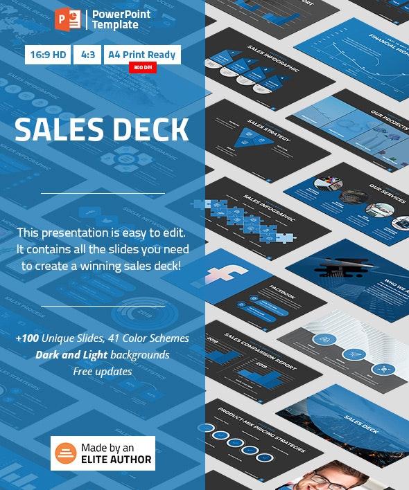Sales Deck PowerPoint Template - Business PowerPoint Templates
