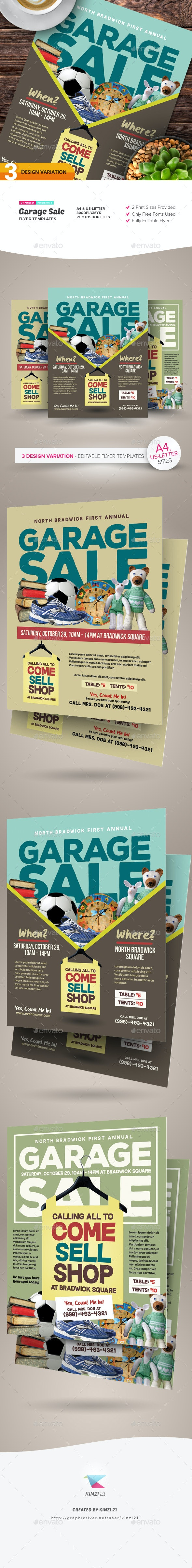 Garage Sale Flyer Templates By Kinzishots Graphicriver