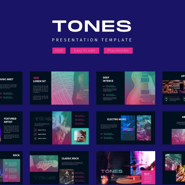 Tones Music Event - Google Slide Template