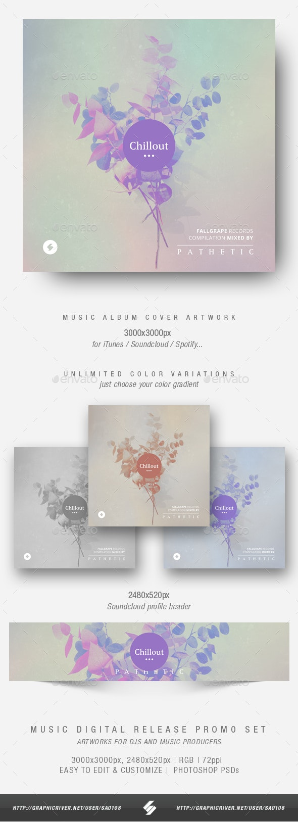 Chillout vol.3 - Music Album Cover Artwork Template - Miscellaneous Social Media