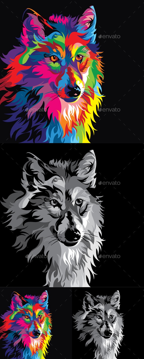 Fox Colorful - Animals Characters