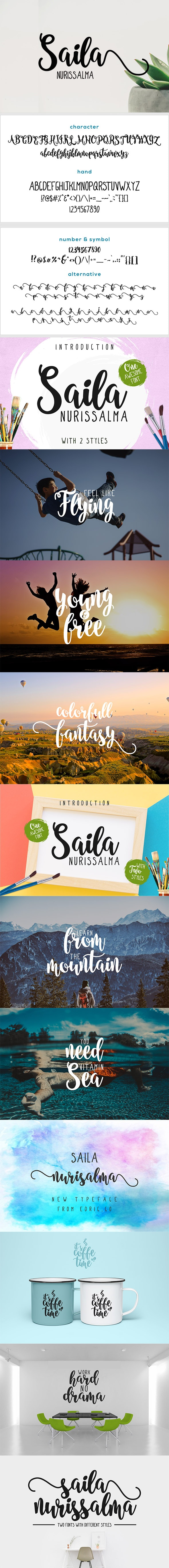 Saila Nurissalma - Two Fonts - Hand-writing Script