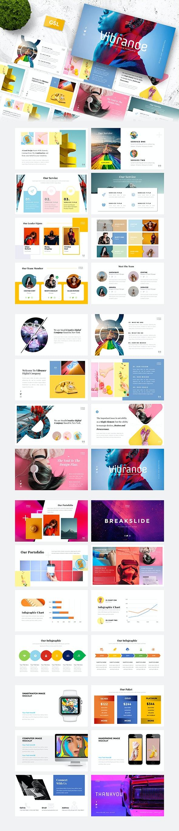 Vibrance – Creative Google Slides Template - Google Slides Presentation Templates