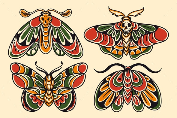 Moths - Animals Characters