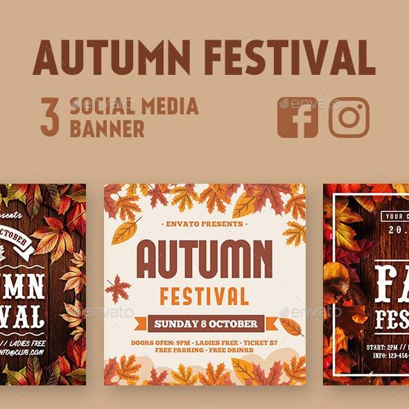 Autumn Instagram & Facebook Banners