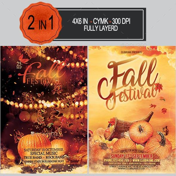 Fall Festival Flyer Bundle