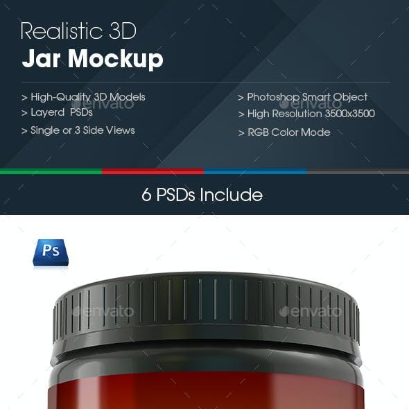 Realistic Jar Mockup