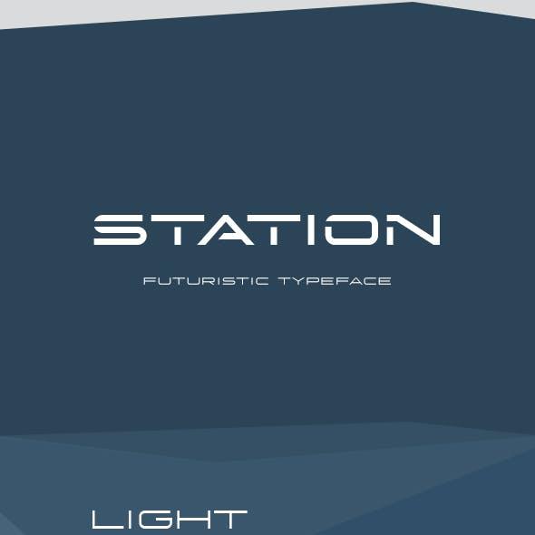Station Futuristic Font