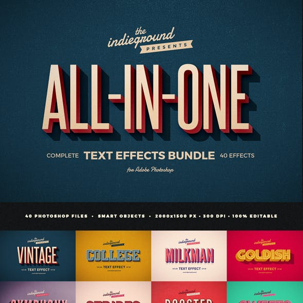Retro Vintage Text Effects Complete Bundle