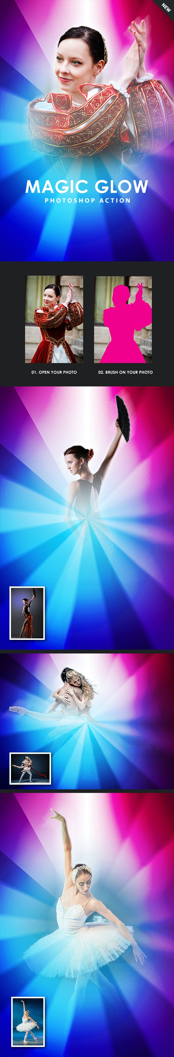 Magic Glow Photoshop Action - Photo Effects Actions