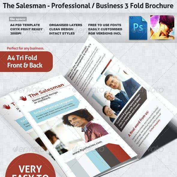 The Salesman 3-Fold Brochure Template