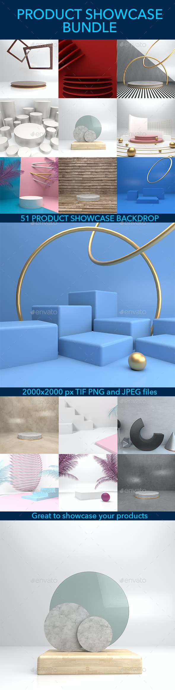 51 3d Product Showcase Background Bundle