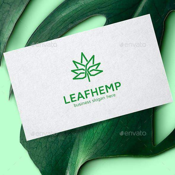 Hemp Leaf Cannabis Logo