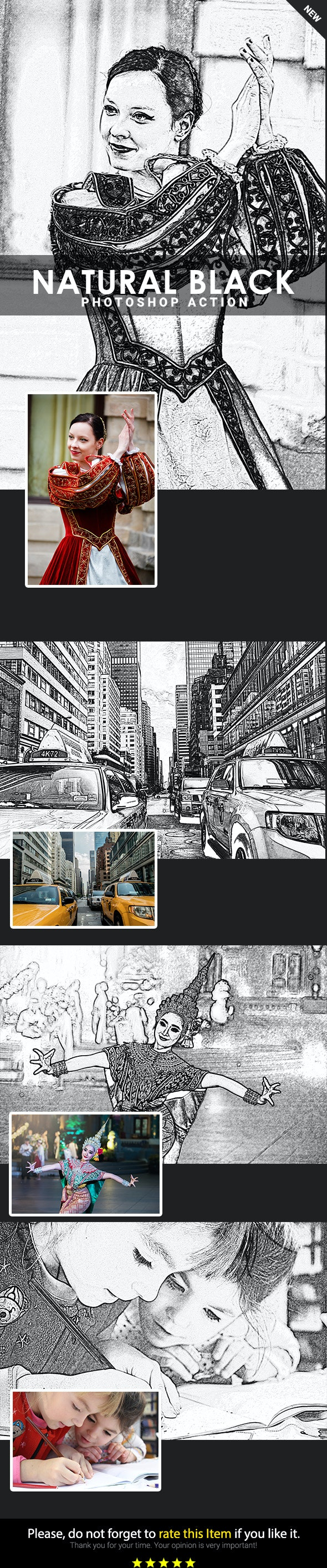 Drawing Photoshop Action V1.1 - Photo Effects Actions