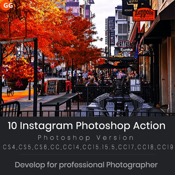 10 Instagram Photoshop Action