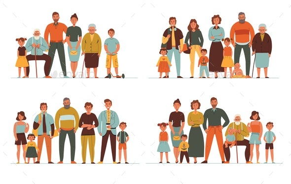 Generations Flat 2x2 Set - People Characters