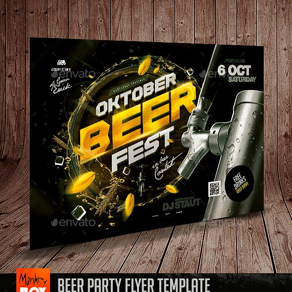 Beer Party Flyer Template