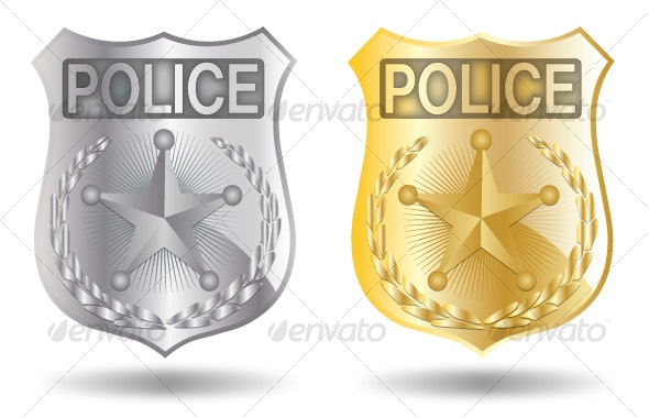 Vector Police Badges - Objects Vectors