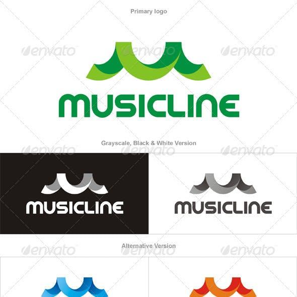 Musicline Logo - Letter M