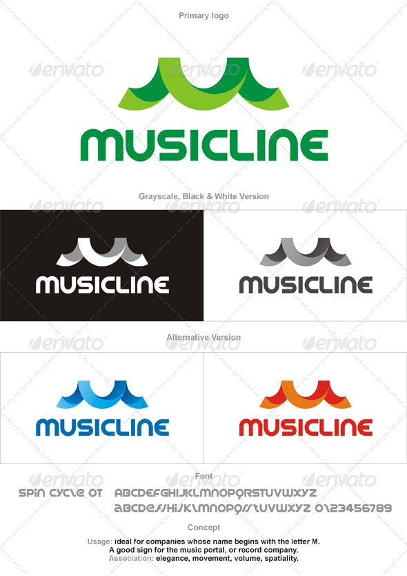 Musicline Logo - Letter M - Letters Logo Templates
