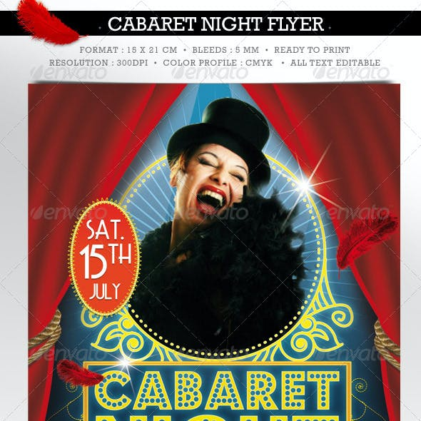 Cabaret Spectacle flyer