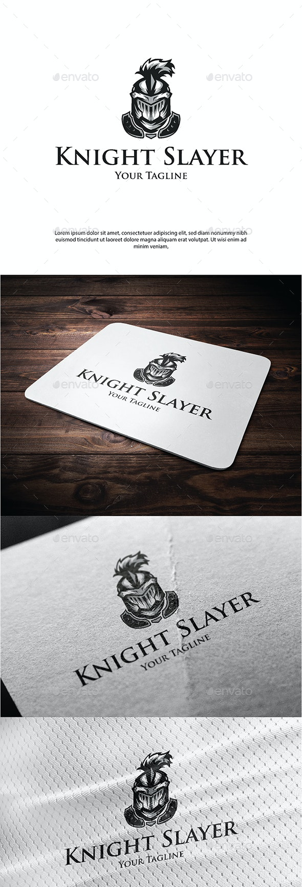 Knight Slayer - Objects Logo Templates