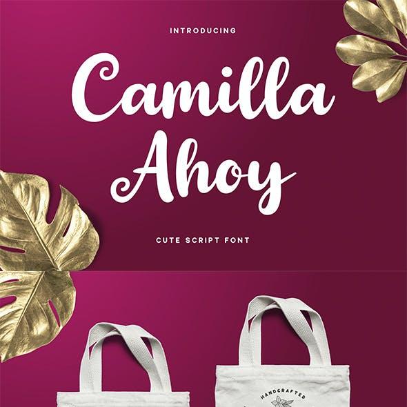 Camilla Ahoy - Cute Script Font