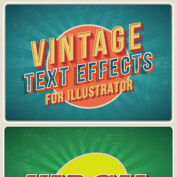 Vintage Retro Illustrator Effect