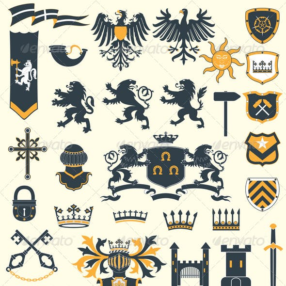 Heraldic Design Elements set#2