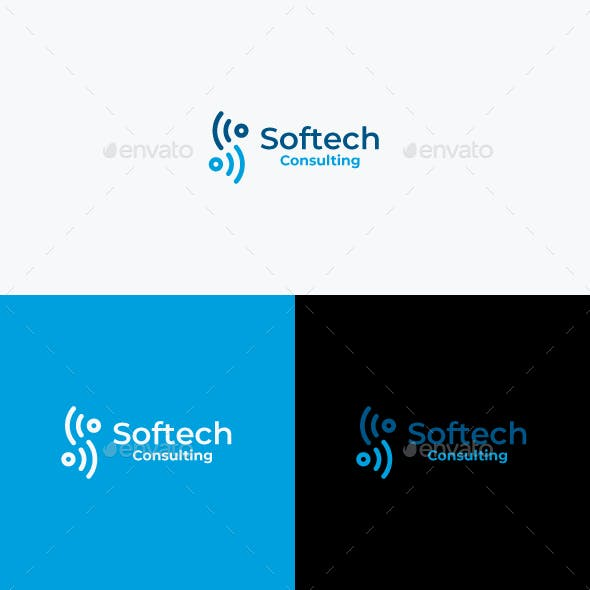Softech Logo Template / S Letter