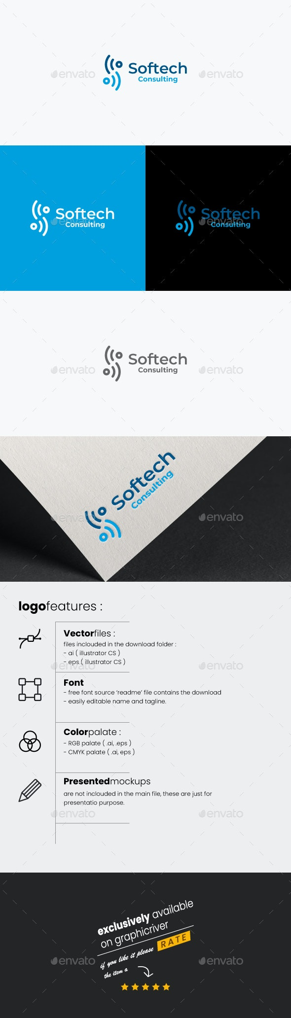 Softech Logo Template / S Letter - Letters Logo Templates