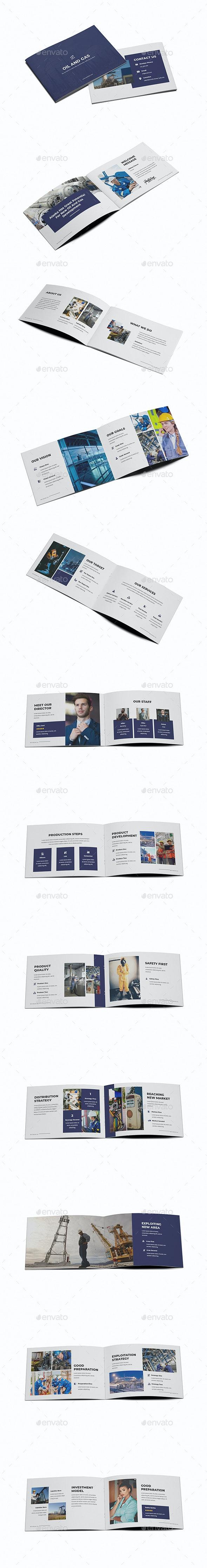 Oil & Gas A5 Brochure Template - Brochures Print Templates