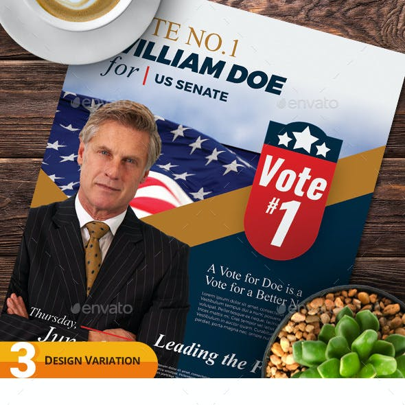 Election Campaign Flyer and Poster Templates