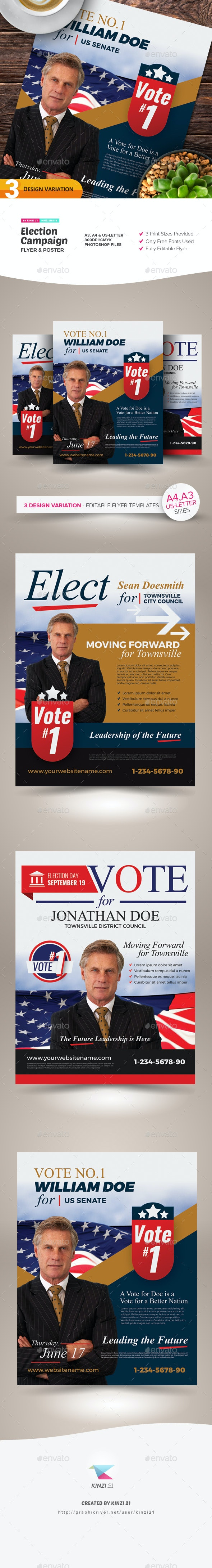 Election Campaign Flyer and Poster Templates - Miscellaneous Events