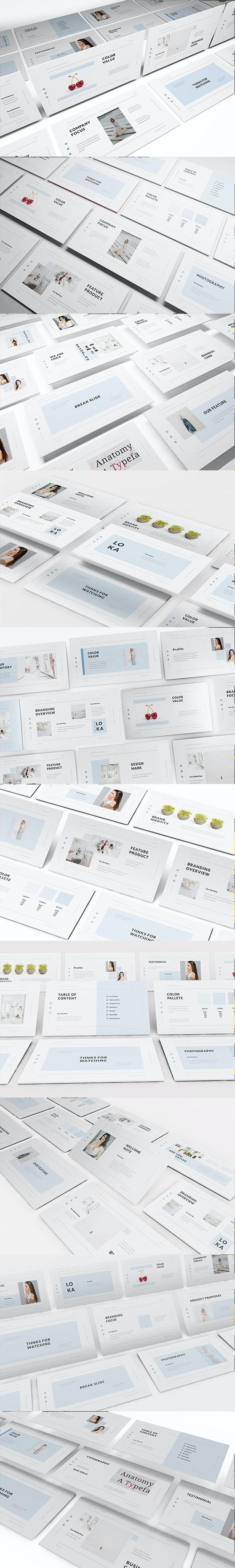 Loka Brand Guideline Google Slides Template - Google Slides Presentation Templates