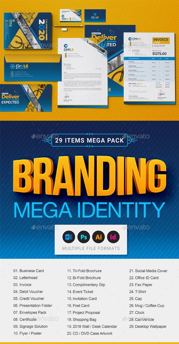 Branding Identity Mega Stationery Full Pack - Stationery Print Templates
