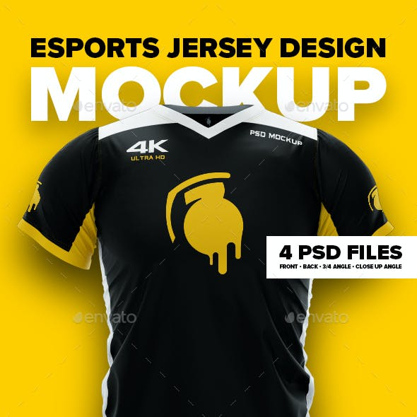 4K Esports Jersey Design Mockup