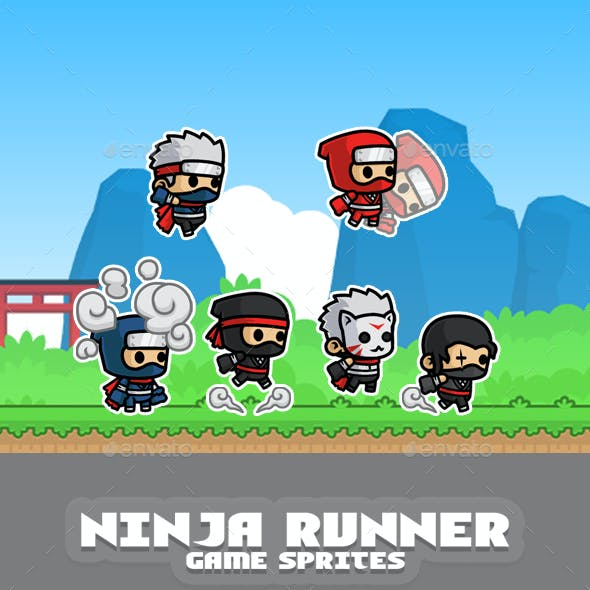 Ninja Runner Game Sprites
