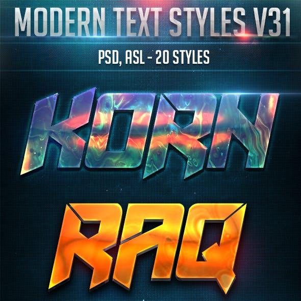 Modern Text Styles V31