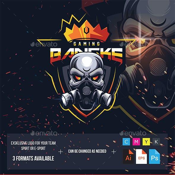 Sport logo skull game
