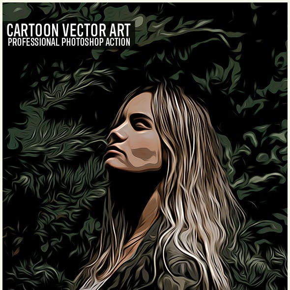 Cartoon Vector Art Photoshop Action